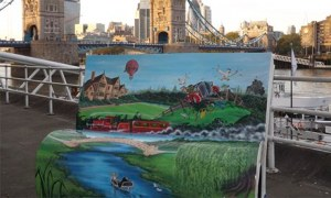 Wind in the Willows bench for NLT