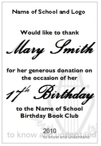 Birthday Book Club