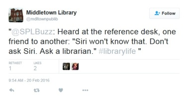 Don't ask Siri.... ask a librarian