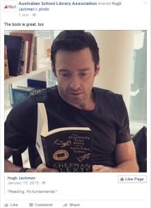 Hugh Jackman reading